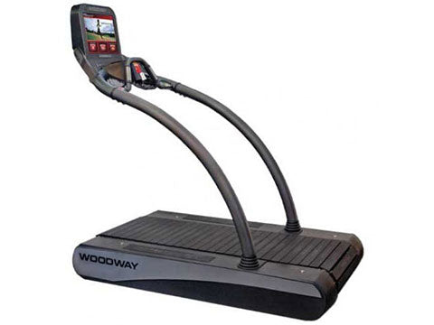 Factory photo of a Refurbished Woodway Desmo Elite Treadmill