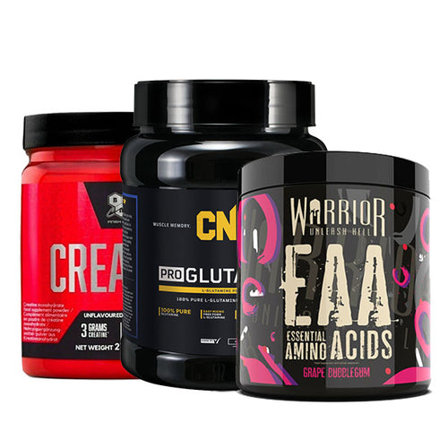 BSN Creatine DNA 216g & CNP Glutamine 500g & Warrior EAA 360g