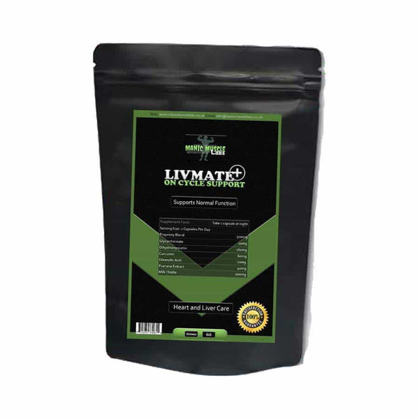 Manic Muscle Labs LIVMATE PLUS On Cycle Support 500mg 60 Capsules - manic-muscle-labs