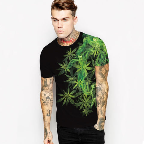 3-D Weed Unisex T Shirt