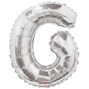 "LETRA ""G"" INFLABLE PLATA METÁLICO 14"" (35 CM)"