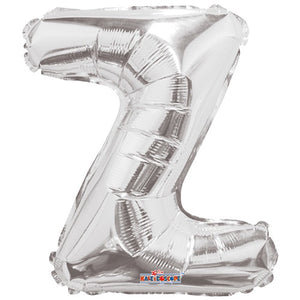 "LETRA ""Z"" INFLABLE PLATA METÁLICO 14"" (35 CM)"