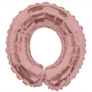 "LETRA ""O"" INFLABLE ROSA METÁLICO 14"" (35 CM)"