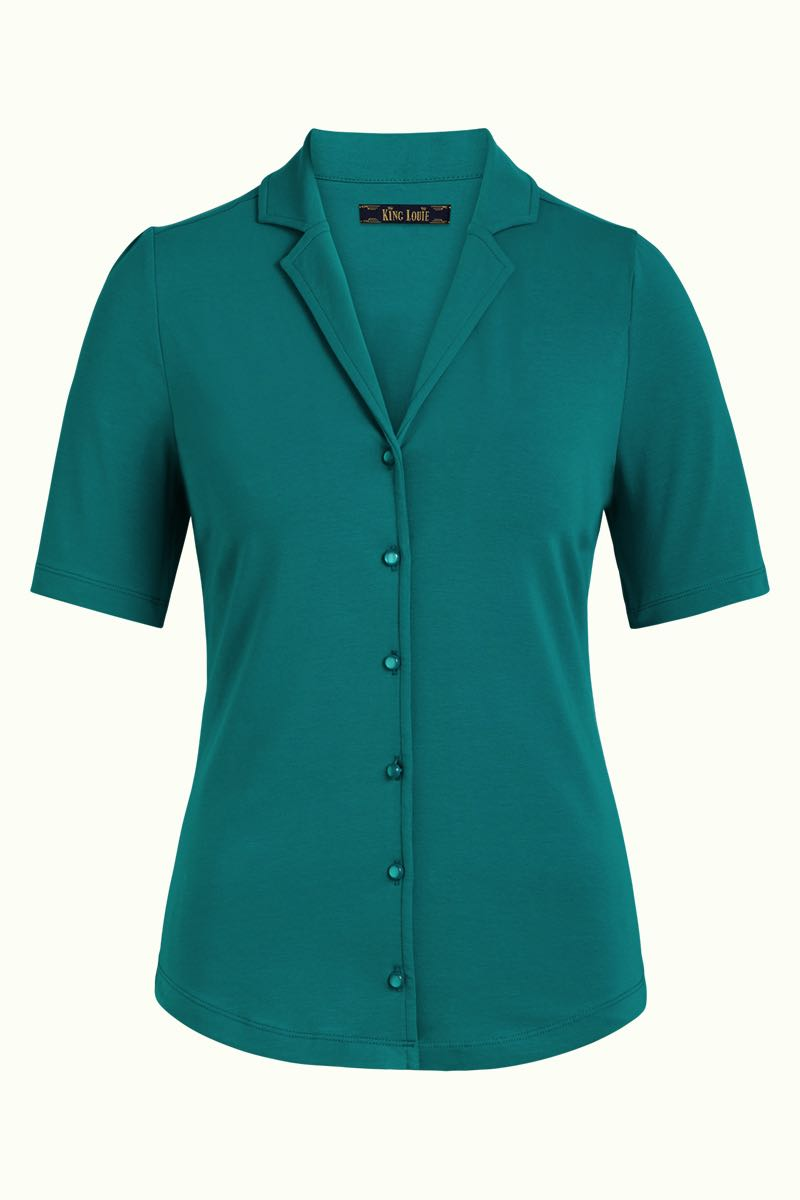 Bluse Patty Blouse Cotton Lycra Light eden green King Louie *New In*
