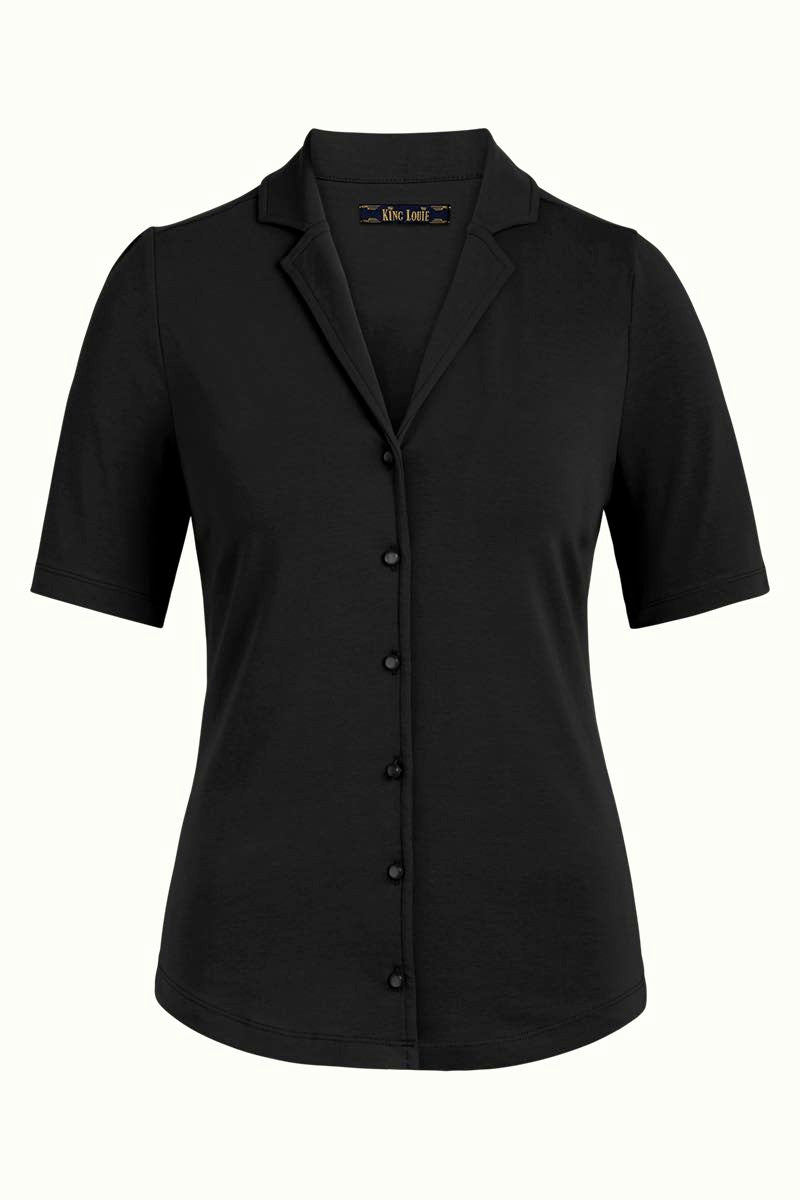 Bluse Patty Blouse Cotton Lycra Light black King Louie *New In*