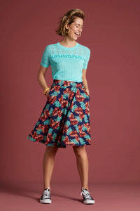 Rock Serena Skirt Palo Verde dunkelblau King Louie *new in*