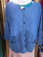 Strickjacke Mansted in blau