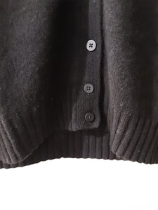 Strickjacke Ida black 100% Yak Wolle Mansted *Sale*