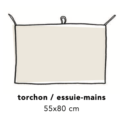 Torchon tablier - Safran chiné