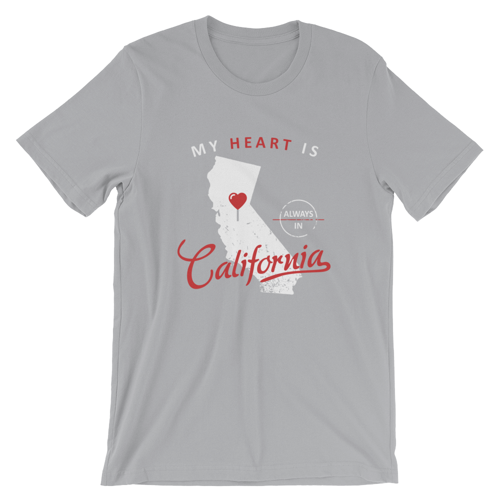 My Heart Is Always In California (White)Unisex T-Shirt