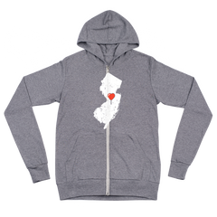 My Heart Is Always In New Jersey  zip hoodie