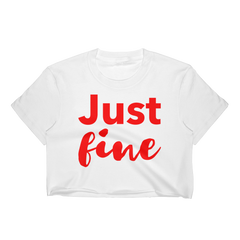 Just Fine Crop Top