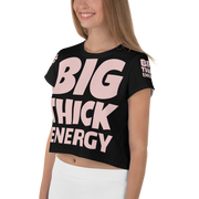 BIG THICK ENERGY All-Over Print Crop