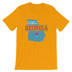 My Heart Is Always In Georgia (Blue) Unisex T-Shirt