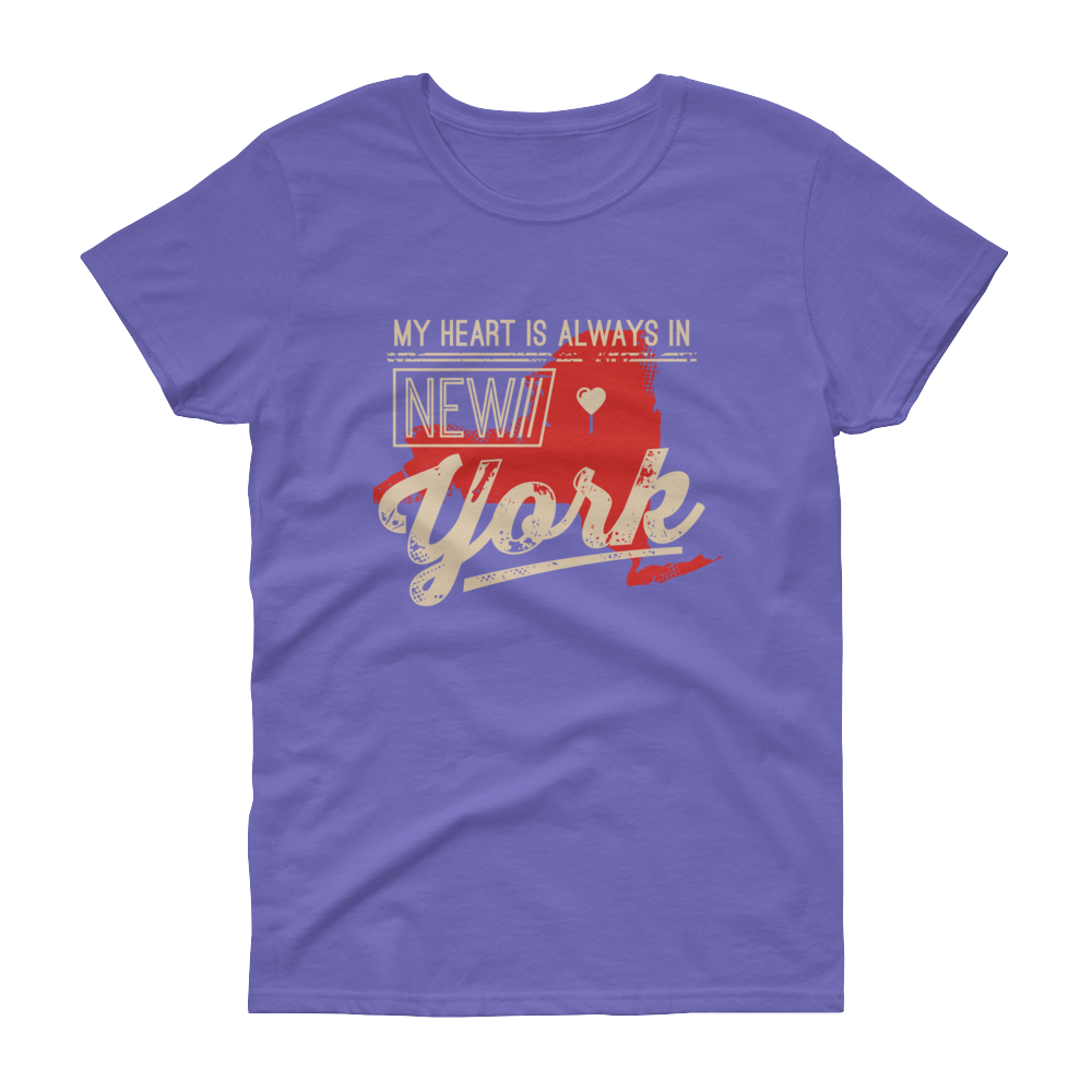 My Heart Is Always In New York Ladies (Red)