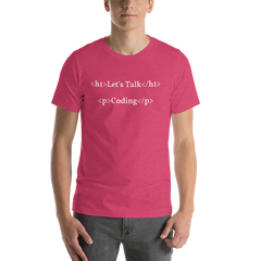 Let's Talk Coding Short-Sleeve Unisex T-Shirt