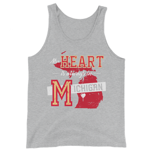 My Heart is Always in Michigan Tank Top