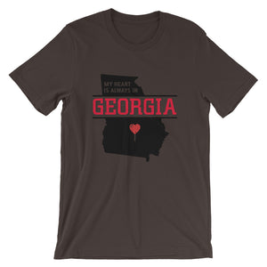 My Heart Is Always In Georgia (Black) Unisex T-Shirt