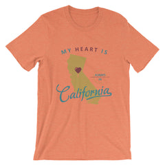 My Heart Is Always In California (Yellow) Unisex T-Shirt