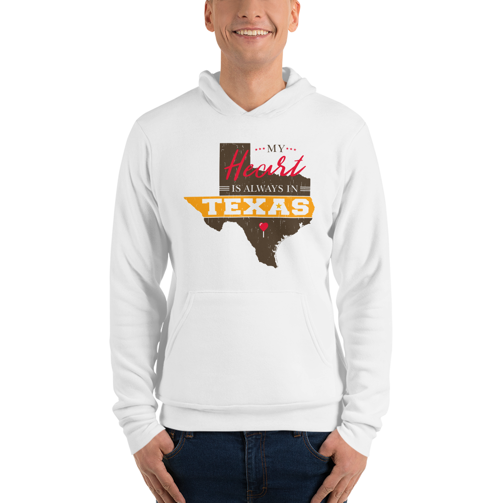 My Heart Is Always In Texas Hoodie