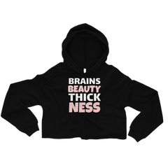 BRAINS BEAUTY THICKNESS Crop Hoodie