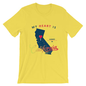 My Heart Is Always In California (Blue) Unisex T-Shirt