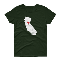 My Heart Is Always In California Women's (Alt) t-shirt