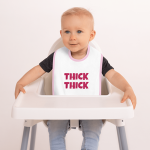 Thick Thick Embroidered Baby Bib