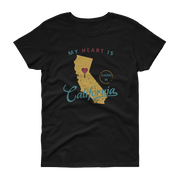 My Heart Is Always In California Women's (Yellow) T-shirt
