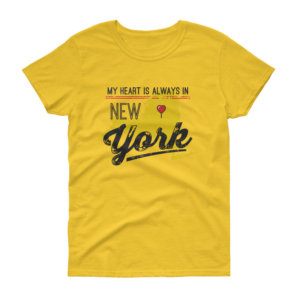 My Heart Is Always In New York Ladies (Yellow)