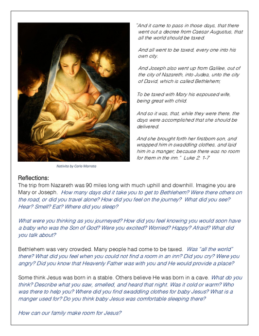 Christmas Scripture & Reflection Cards (Set of 3) Download