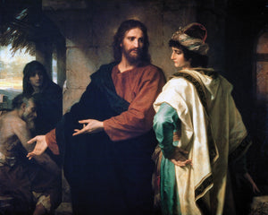 Christ and the Rich Young Ruler Puzzle (Heinrich Hofmann)