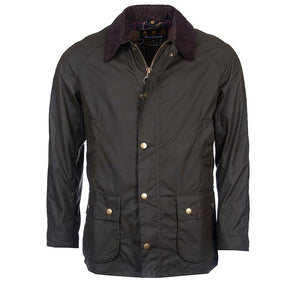 Barbour Ashby Wax Jacket Color is Olive