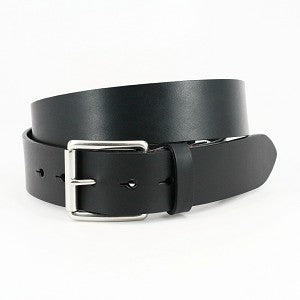 Torino Belts Hand Burnished Bridle Leather color: Black