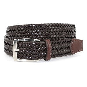 Torino Woven cotton and Leather belt