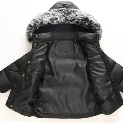 Black Faux Winter Jacket