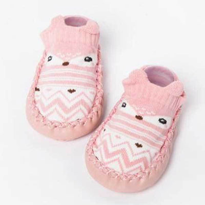 Soft Sole Pink Animal Slippers