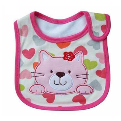Velcro Cartoon Animal Bib