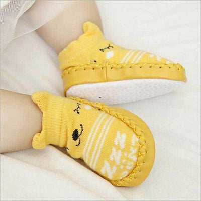 Soft Sole Yellow Animal Slippers