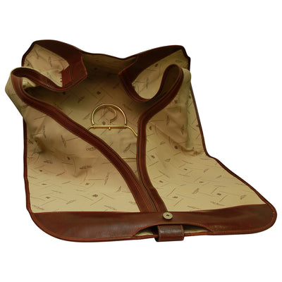 Garment Bag - Brown - Italian Calfskin Leather
