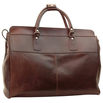 Travel Bag – Dark Brown - Italian Calfskin Leather