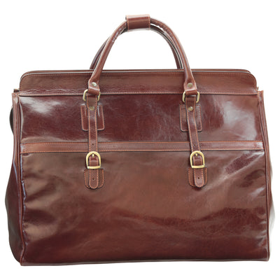 Travel Bag – Brown - Italian Calfskin Leather
