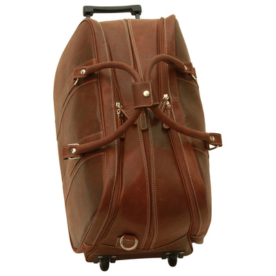 Travel Trolley Bag - Brown - Italian Calfskin Leather