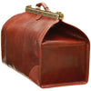 "Old America"" Bag (Large) - Brown - Italian Calfskin Leather"