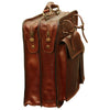 Briefcase With Belt Straps - Brown - Italian Calfskin Leather