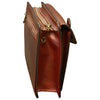 Hand Bag - Brown - Italian Calfskin Leather