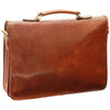 Briefcase - Brown - Italian Calfskin Leather