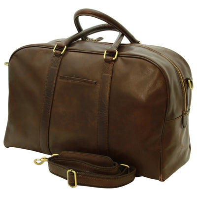 Travel Bag - Dark Brown - Italian Calfskin Leather
