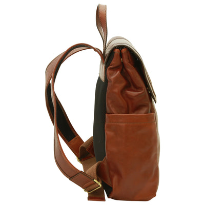 Laptop backpack – Brown - Italian Calfskin Leather