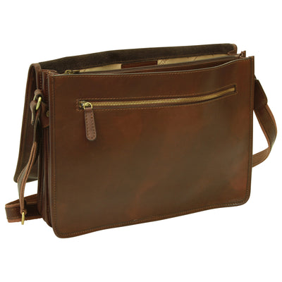Messenger Bag – Dark Brown - Italian Calfskin Leather